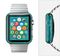 The Teal Swirly Vector Love Hearts Full-Body Skin Set for the Apple Watch