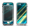 The Teal & Yellow Abstract Glowing Lines Apple iPhone 5-5s LifeProof Nuud Case Skin Set