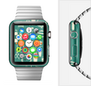 The Teal and Yellow Beauty Product Icons Full-Body Skin Set for the Apple Watch