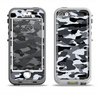 The Traditional Black & White Camo Apple iPhone 5-5s LifeProof Nuud Case Skin Set