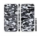 The Traditional Black & White Camo Sectioned Skin Series for the Apple iPhone 6/6s Plus