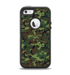 The Traditional Green Camouflage Apple iPhone 5-5s Otterbox Defender Case Skin Set