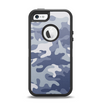 The Traditional Snow Camouflage Apple iPhone 5-5s Otterbox Defender Case Skin Set