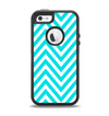The Trendy Blue Sharp Chevron Pattern Apple iPhone 5-5s Otterbox Defender Case Skin Set