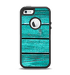 The Trendy Green Washed Wood Planks Apple iPhone 5-5s Otterbox Defender Case Skin Set