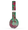 The Trendy Green with Pink Rust Skin Set for the Beats by Dre Solo 2 Wireless Headphones