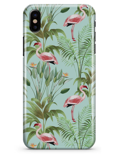 The Tropical Flamingo Scene  - iPhone X Clipit Case
