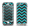 The Turquoise-Black-Gray Chevron Pattern Apple iPhone 5-5s LifeProof Nuud Case Skin Set
