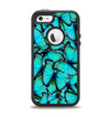 The Turquoise Butterfly Bundle Apple iPhone 5-5s Otterbox Defender Case Skin Set