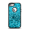 The Turquoise Glimmer Apple iPhone 5-5s Otterbox Defender Case Skin Set