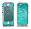 The Turquoise Mosaic Tiled Apple iPhone 5-5s LifeProof Nuud Case Skin Set