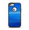 The Unbalanced Blue Textile Surface Apple iPhone 5-5s Otterbox Defender Case Skin Set