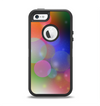 The Unfocused Color Rainbow Bubbles Apple iPhone 5-5s Otterbox Defender Case Skin Set