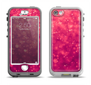 The Unfocused Pink Glimmer Apple iPhone 5-5s LifeProof Nuud Case Skin Set
