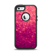 The Unfocused Pink Glimmer Apple iPhone 5-5s Otterbox Defender Case Skin Set
