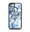 The Vector Abstract Shaped Blue Overlay V3 Apple iPhone 5-5s Otterbox Defender Case Skin Set