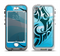 The Vector Blue Abstract Fish Apple iPhone 5-5s LifeProof Nuud Case Skin Set