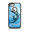 The Vector Blue Abstract Fish Apple iPhone 5-5s Otterbox Defender Case Skin Set