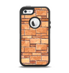 The Vector Brick Wall Slabs Apple iPhone 5-5s Otterbox Defender Case Skin Set