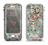 The Vector Cat Faced Collage Apple iPhone 5-5s LifeProof Nuud Case Skin Set