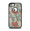 The Vector Cat Faced Collage Apple iPhone 5-5s Otterbox Defender Case Skin Set