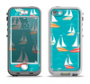 The Vector Colored Sailboats Apple iPhone 5-5s LifeProof Nuud Case Skin Set