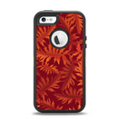 The Vector Fall Red Branches Apple iPhone 5-5s Otterbox Defender Case Skin Set
