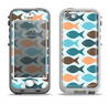 The Vector Fishies V1 Apple iPhone 5-5s LifeProof Nuud Case Skin Set