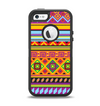 The Vector Gold & Purple Aztec Pattern V32 Apple iPhone 5-5s Otterbox Defender Case Skin Set