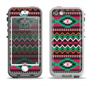 The Vector Green & Pink Aztec Pattern Apple iPhone 5-5s LifeProof Nuud Case Skin Set