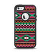 The Vector Green & Pink Aztec Pattern Apple iPhone 5-5s Otterbox Defender Case Skin Set