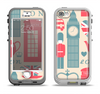 The Vector London Time Red Apple iPhone 5-5s LifeProof Nuud Case Skin Set