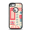 The Vector London Time Red Apple iPhone 5-5s Otterbox Defender Case Skin Set
