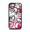 The Vector Love Hearts Collage Apple iPhone 5-5s Otterbox Defender Case Skin Set