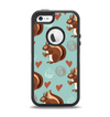 The Vector Love & Nuts Squirrel Apple iPhone 5-5s Otterbox Defender Case Skin Set