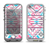 The Vector Pink & White Modern Aztec Pattern Apple iPhone 5-5s LifeProof Nuud Case Skin Set