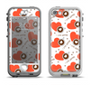 The Vector Red Hearts with Coffee Mugs Apple iPhone 5-5s LifeProof Nuud Case Skin Set