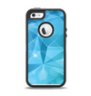 The Vector Shiny Blue Crystal Pattern Apple iPhone 5-5s Otterbox Defender Case Skin Set