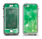 The Vector Shiny Green Crystal Pattern Apple iPhone 5-5s LifeProof Nuud Case Skin Set
