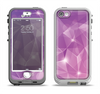 The Vector Shiny Pink Crystal Pattern Apple iPhone 5-5s LifeProof Nuud Case Skin Set