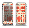 The Vector Tan and Red London Apple iPhone 5-5s LifeProof Nuud Case Skin Set