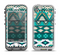 The Vector Teal & Green Aztec Pattern  Apple iPhone 5-5s LifeProof Nuud Case Skin Set