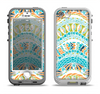 The Vector Teal & Green Snake Aztec Pattern Apple iPhone 5-5s LifeProof Nuud Case Skin Set