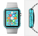The Vibrant Blue Cement Texture Full-Body Skin Set for the Apple Watch