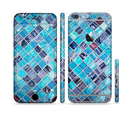 The Vibrant Blue Glow-Tiles Sectioned Skin Series for the Apple iPhone 6/6s Plus
