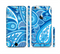 The Vibrant Blue Paisley Design Sectioned Skin Series for the Apple iPhone 6/6s Plus