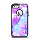 The Vibrant Blue & Purple Flower Field Apple iPhone 5-5s Otterbox Defender Case Skin Set