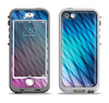 The Vibrant Blue and Pink Neon Interlock Pattern Apple iPhone 5-5s LifeProof Nuud Case Skin Set