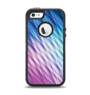 The Vibrant Blue and Pink Neon Interlock Pattern Apple iPhone 5-5s Otterbox Defender Case Skin Set