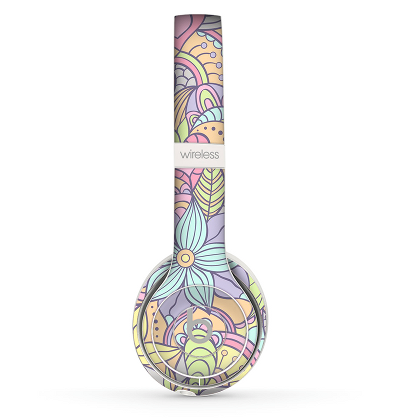 The Vibrant Color Floral Pattern Skin Set for the Beats by Dre Solo 2 Wireless Headphones